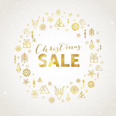 Christmas sale promotional banner