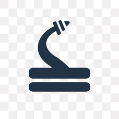 Hose vector icon isolated on transparent background, Hose  transparency concept can be used web and mobile