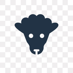 Sheep vector icon isolated on transparent background, Sheep  transparency concept can be used web and mobile