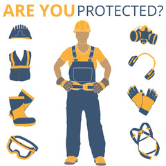 Personal Protective Equipment vector illustration