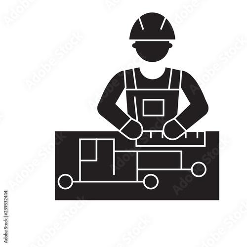 Civil engineering black vector concept icon  Civil