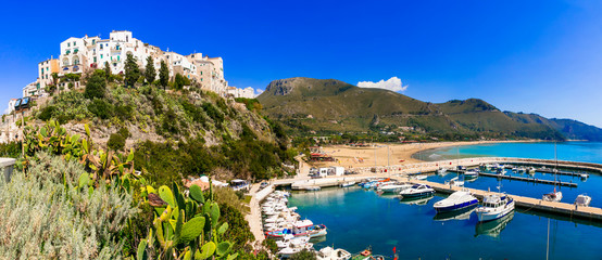 beautiful  Sperlonga town with great  beaches. summer vacations in  Italy