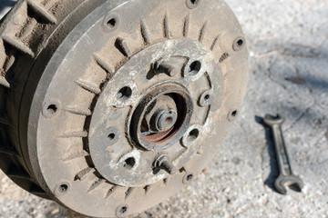 Repair of the car suspension. Replacing drum brake.