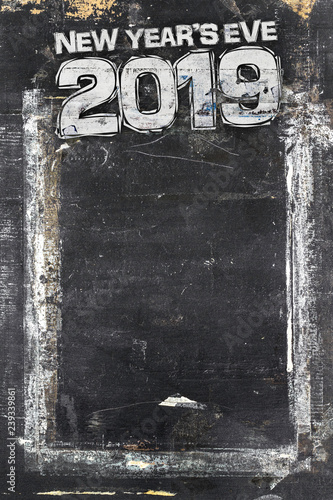 2019 happy new year grunge background for your flyers greetings card and dinner menu