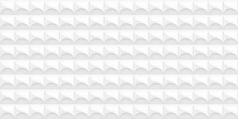Volume realistic vector cylinder texture, light geometric seamless tiles pattern, design white background for you projects