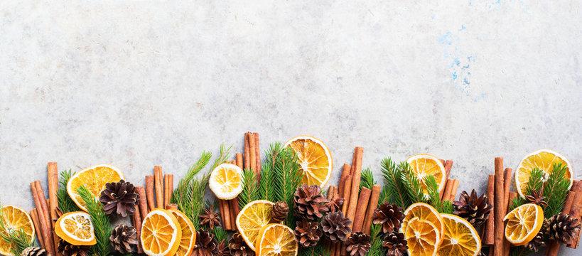 Sticks cinnamon fir tree branches pine cones