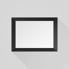 Realistic black frame. Illustration on white background Eps 10