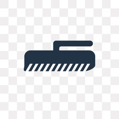 Brush vector icon isolated on transparent background, Brush  transparency concept can be used web and mobile
