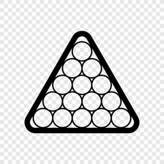 Billiard balls triangle icon transparent