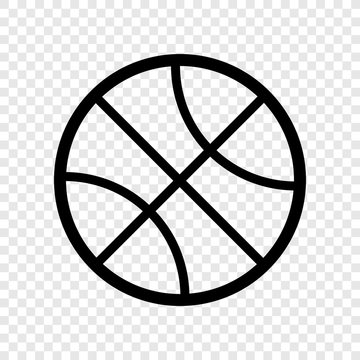 Basketball icon vector transparent grid