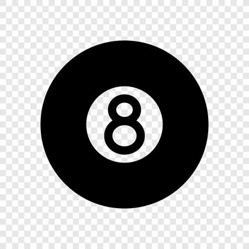 Billiard 8-ball icon transparent