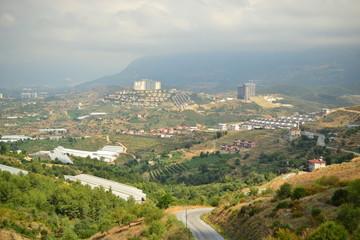 Panorama of the city of Antalya Turkey
