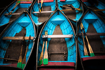 Boats in Oxford, Oxfordshire, England, United Kingdom, Europe