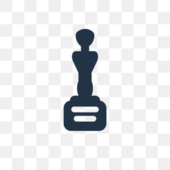 Movie Award vector icon isolated on transparent background, Movie Award  transparency concept can be used web and mobile