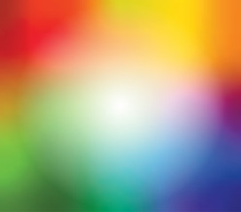 Abstract blurred gradient mesh background in bright rainbow colors. Colorful smooth banner template. Easy editable soft colored vector illustration.