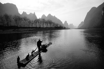Cormorant fisherman, River Li, Guilin, China