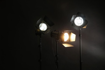 Backstage Lights Photos Royalty Free