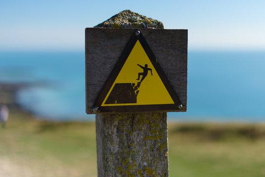 Danger Cliff Fall