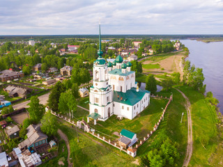 Complex of the Annunciation Cathedral, Ancient Annunciation Cathedral 1560 on on the old trade route passing from Totma to Arkhangelsk. Solvychegodsk, Arkhangelsky region, Russia.