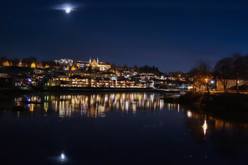 Night in Trondheim, Norway