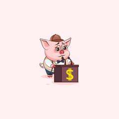 pig sticker emoticon training presentation