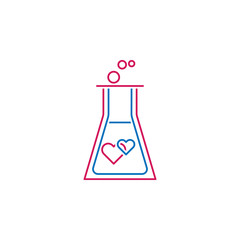 Valentine's day, chemistry, love, hearts icon. Can be used for web, logo, mobile app, UI, UX