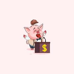 pig sticker emoticon orator speaker