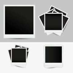 Blank photo frames background