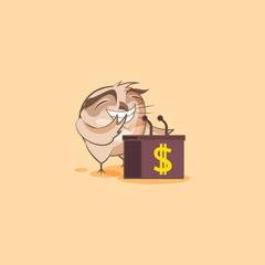 Illustration isolated owl orator speaker