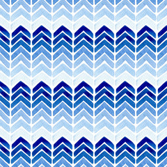 Watercolor seamless pattern with zigzag stripes.