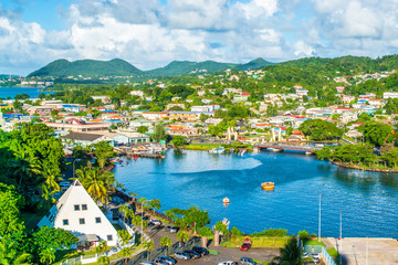 Fotomurales - Castries, St Lucia, Caribbean