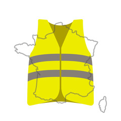 Yellow vests (Gilets Jaunes) - a symbol of a strike in France against taxes on fuel.