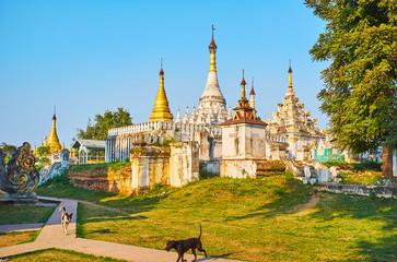 Htilaing Shin Pagoda complex, Ava, Myanmar