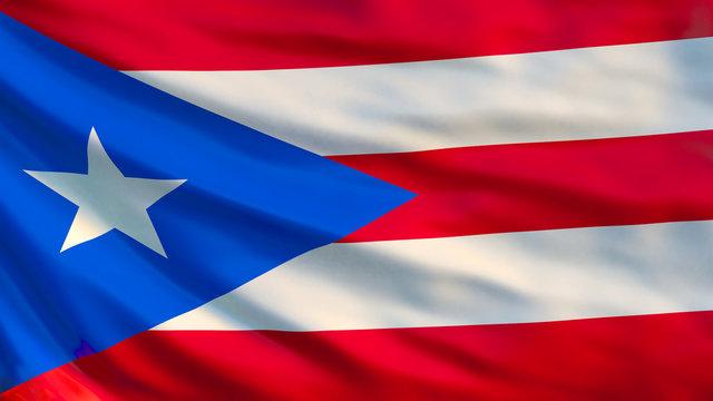 Puerto Rico flag. 3D Illustration