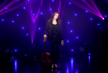 Singer Carla Bruni-Sarkozy wax figure made by German sculptor Claus Velte is displayed at the Grevin wax museum during the presentation of her waxwork in Paris
