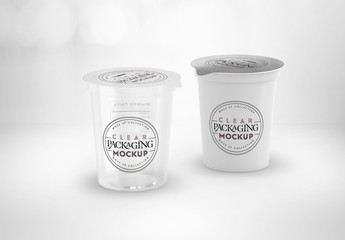 Clear Film Sealed Cups Mockup