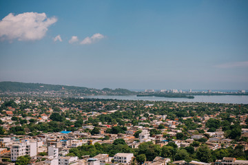 Panoramic view of the Cartagena, Colombia