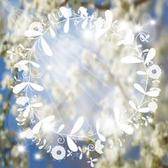 blurred spring background