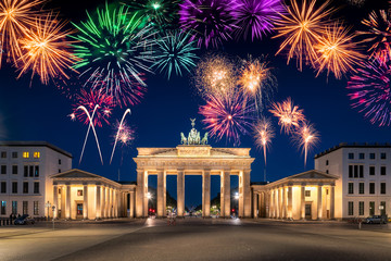 Silvester feiern in Berlin, Deutschland