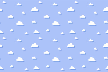 Cute clouds texture. Simple pattern. Vector illustration.