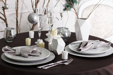 holiday served table