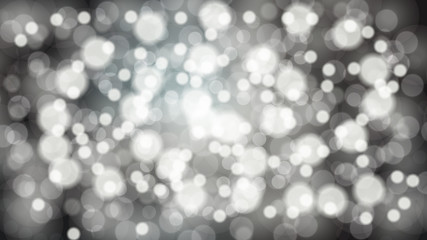 Abstract white blurred background with bokeh effect. Magical bright festive multicolored beautiful glowing shiny with light spots, round circles. Texture. Vector illustration