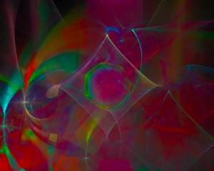 abstract digital fractal, dream design, party