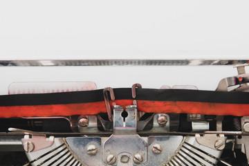 White paper copy space vintage typewriter