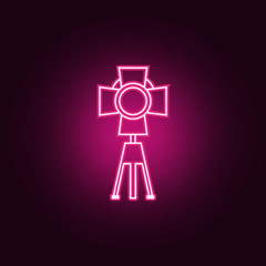 studio light icon. Elements of Spotlight in neon style icons. Simple icon for websites, web design, mobile app, info graphics