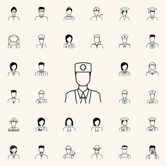 doctor icon. Proffecions icons universal set for web and mobile
