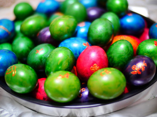 Easter eggs in color