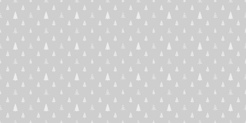 Seamless pattern with christmas trees. Abstract geometric wallpaper. Geometric art. Print for textiles, fabrics, polygraphy, posters. Greeting cards. Black and white illustration