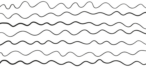 Pattern with lines and waves. Universal texture. Abstract dinamic background. Doodle for design. Lineal wallpaper. Print for polygraphy, t-shirts and textiles. Decorative style. Line art creation