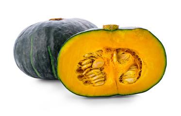 Slice of pumpkin isolated on white background. - Image
